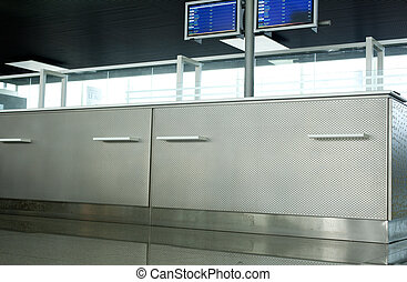 Information counter, Airport terminal - Information counter...