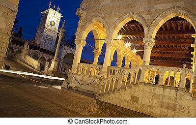 Piazza Libertà, Udine - View at sunset of Piazza Libertà in...