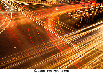Light vehicles in the intersection. - Light is the...