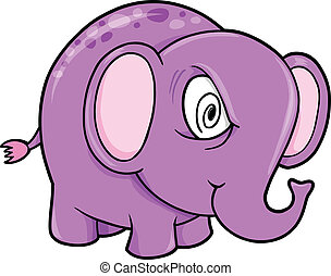 Crazy Insane Elephant Animal Vector