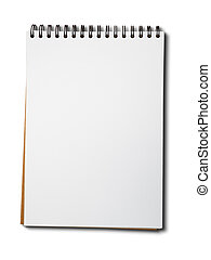 Blank white paper notebook - Blank one face white paper...