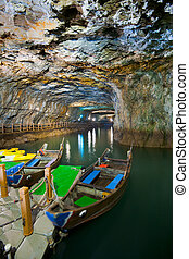 Beihai Tunnel Docked Boats - Beihai Tunnel, the former...