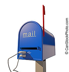 mailbox with USB port (3D concept)