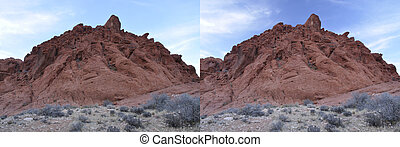 Polarizing filter - Withwithout comparison of polarizing...