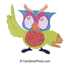 owl bird paper craft stick background - owl bird paper craft...