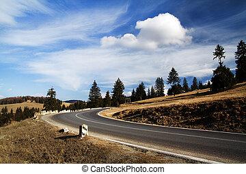 Road to Piatra Craiului