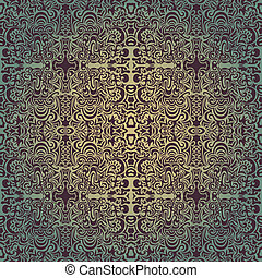 Green luxury seamless pattern may be used as background