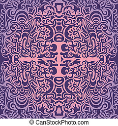 Violet great vintage pattern may be used as background