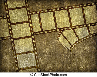 Blank film strip