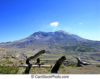 Mount St Helens, Washington - Volcano of Mount St Helens,...