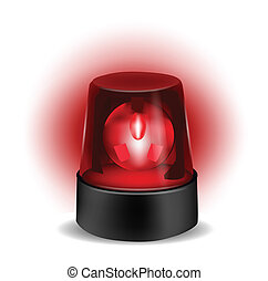 Red Flashlight isolated on white