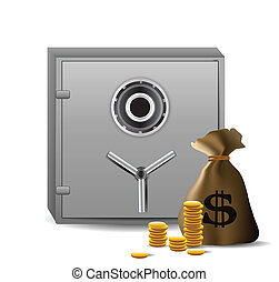 Safe combination lock with money
