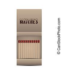 Matchbox isolated on white