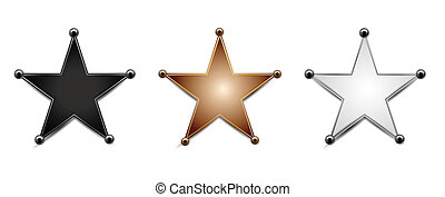 Stars Isolated on White