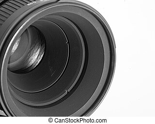 lens of the camera - Lens of the camera with a reflection on...