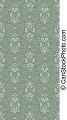 vector seamless floral pattern in green