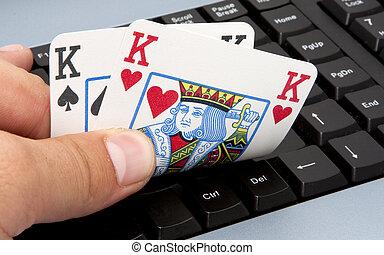 Online texas hold-em, casino