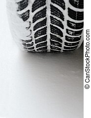 snowtire contact with snow detail