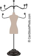 Coat Rack Shop - Image representing a coat rack shop,...