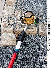 Prism surveyor for the measures on building sites,...