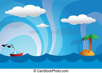 Cartoon tropics