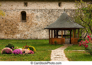 Dragomirna monastery backyard, Photo taken in Romania...