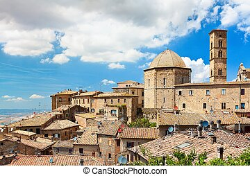 "Roof of a small town in Tuscany ""Volterra"" - View of the..."