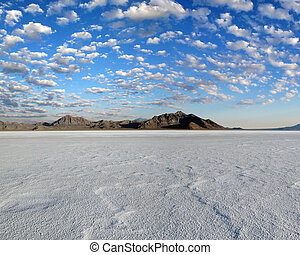Bonneville Salt Flats #4 - Bonneville Salt Flats in the...
