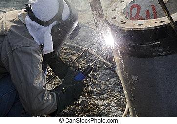 Industrial welder.