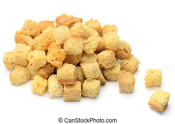 crouton - I took crouton in a white background.