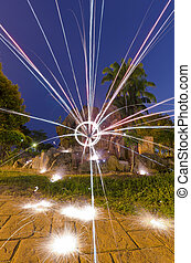 light painting - abstract light painting in night mode