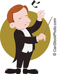 Conductor - A conductor conducts musicians