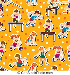 game player seamless pattern