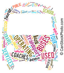 word clouds - public transportation info-text graphics and...