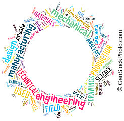 word clouds - engineering info-text graphics and arrangement...