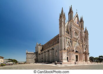 City Orvieto - medieval Cathedral - Orvieto Cathedral,...