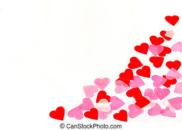 Valentine background - Valentine heart on white background...