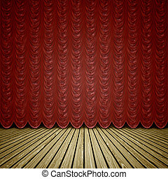 stage red curtain