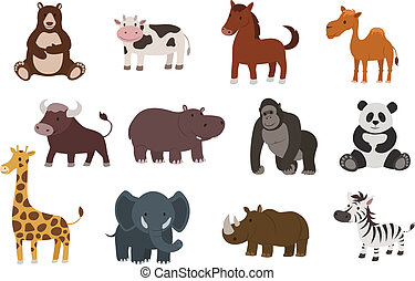 vector animal collection
