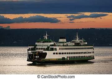 Ferry boat 4 - Landscape photo of the Washington State ferry...