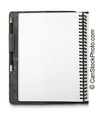 One face white blank page