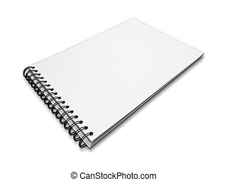 white paper notebook on white
