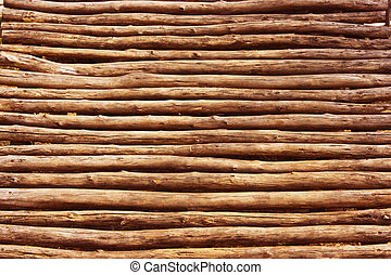 palisade - Ancient stockade isolated with clipping path