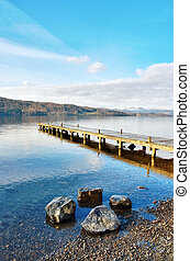 Jetty Over Lake, Windermere - Jetty extending out into the...