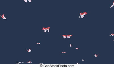 Butterflies - A flock of flying butterflies. With luma matte