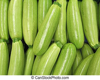 Zucchinis on market.