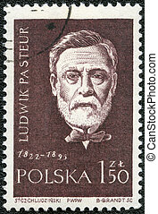 POLAND - CIRCA 1959: A stamp printed in Poland shows Louis...