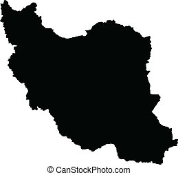 Vector illustration of maps of Iran