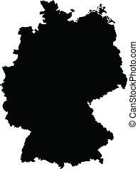 Vector illustration of maps of Germany