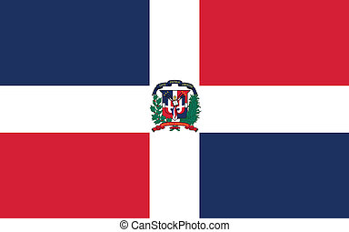 Vector illustration of the flag of  Dominican Republic